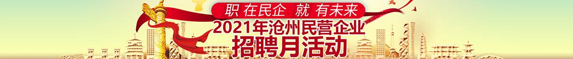 """2021年沧州市 """"职""""在民企 """"就""""有未来 网络招聘会"""